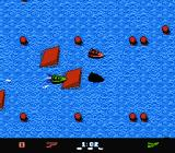 Eliminator Boat Duel NES Racing through open water, jumping off ramps