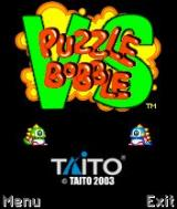 Puzzle Bobble VS N-Gage Title Screen