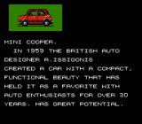 Formula One: Built to Win NES Description of the Mini Cooper, your first car in the game