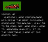 Formula One: Built to Win NES Description of the Vector W2