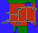 Formula One: Built to Win NES Neo-cubist interpretation of the United States map