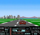 Formula One: Built to Win NES Taking the Ferrari for a cruise in one of the San Francisco courses (Free Mode)