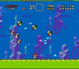 Super Mario World SNES Chased underwater by Rip Van Fish