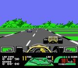 Nigel Mansell's World Championship Racing NES Racing against other cars on the England track