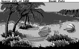Leisure Suit Larry Goes Looking for Love (In Several Wrong Places) DOS At the beach - CGA 2 color