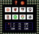 Futebol NES Selecting the championship and number of players.
