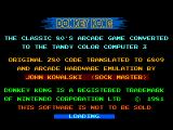 Donkey Kong TRS-80 CoCo Coco 3 - credits screen