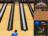 Kingpin: Arcade Sports Bowling DOS Main game screen