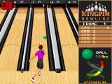 Kingpin: Arcade Sports Bowling DOS CPU Demo - Female avatar in action