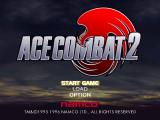 Ace Combat 2 PlayStation Title screen