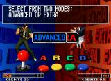 "The King of Fighters '97 Neo Geo The old-school-classic tutorial ""How To Play"" screen: now, introducing the newest Advanced Mode..."