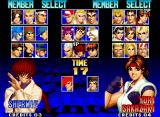 The King of Fighters '97 Neo Geo Character selection