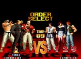 The King of Fighters '97 Neo Geo Setting the battle order.