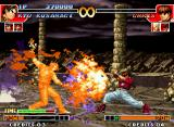 The King of Fighters '97 Neo Geo Which attack will prevail: Orochi Chris' Taiyou o Iru Honoo or Kyo's SDM Ura 108 Shiki: Orochi Nagi?