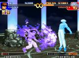 The King of Fighters '97 Neo Geo Orochi Chris, through his SDM Ankoku Orochi Nagi, is about to interrupt Orochi's current offensive!