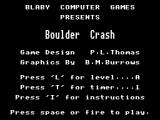 Boulder Crash Dragon 32/64 Title screen