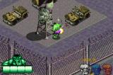 The Incredible Hulk Game Boy Advance Destroying the observation tower.