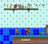 Tom and Jerry SNES Jerry The Mouse's adventure continues, this time in a kitchen with lots of walk-pestering foodstuff!