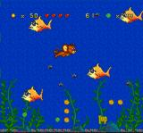 Tom and Jerry SNES Now, Jerry falls into an aquarium: through this short section, he must swim-avoid its inhabitants!