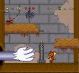 Tom and Jerry SNES Meanwhile, Tom's hand blindly attempts to grab Jerry, but the mouse is located in a safe distance...