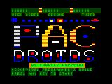 Pac Droids TRS-80 CoCo Intro/credits screen
