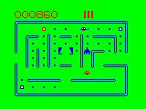 Pac Droids TRS-80 CoCo Game Play screen