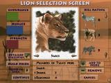 Lion DOS Simulation mode - lion selection screen