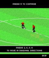 2005 Real Soccer J2ME The training mode explains the different actions.