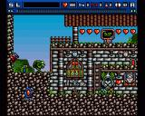 Bograts: The Puzzling Misadventure Amiga Main game screen - a parent Bograt and its offspring