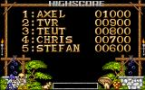 Apprentice Amiga Highscore table