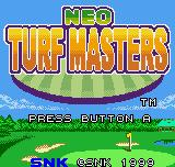 Neo Turf Masters Neo Geo Pocket Color Title screen.