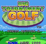Neo Turf Masters Neo Geo Pocket Color Title screen (Japanese).