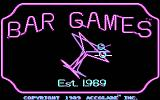 Bar Games DOS Title Screen CGA