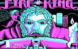 Fire King DOS title screen - CGA