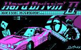 Hard Drivin' II DOS title screen - CGA