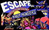 Escape from the Planet of the Robot Monsters DOS title screen - EGA/VGA