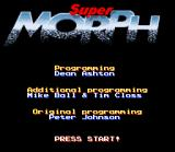 Morph SNES Title screen