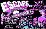 Escape from the Planet of the Robot Monsters DOS title screen - CGA