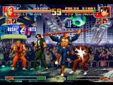 The King of Fighters '97 PlayStation Kyo Kusanagi's strike back attempt was suddenly interrupted by Billy Kane's Sen'en Sakkon attack...