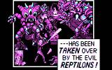 Escape from the Planet of the Robot Monsters DOS opening story - CGA