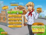 Burger Rush Windows Main menu