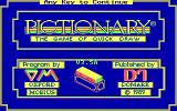 Pictionary: The Game of Quick Draw DOS title screen - CGA