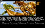 Los Templos Sagrados Amiga Game start - On the boat overseeing an agitated sea.