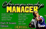 Championship Manager: End of 1994 Season Data Up-date Disk DOS Title screen
