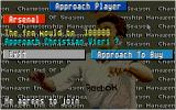 Championship Manager: End of 1994 Season Data Up-date Disk DOS Trying to sign this promising striker.