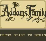 The Addams Family Game Boy Title Screen