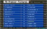 Championship Manager: End of 1994 Season Data Up-date Disk DOS Fixtures