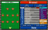 Championship Manager: End of 1994 Season Data Up-date Disk DOS Tactics screen