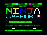 Ninja Warrior TRS-80 CoCo Intro/Credits/Hi score screen
