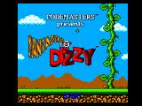 The Fantastic Adventures of Dizzy SEGA Master System Title screen